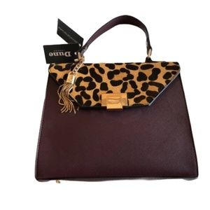 Dune London Cross body/Satchel  purple cheetah